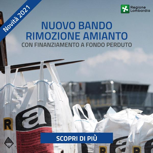 Bando rimozione amianto in Lombardia 2021